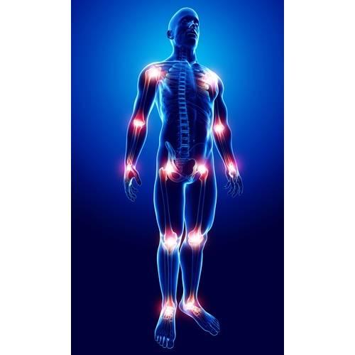 articulație sub genunchiul din stânga