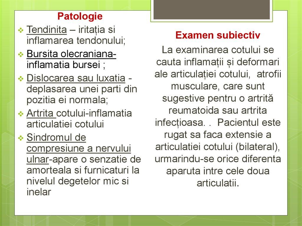 inflamația articulației cotului artrita măsoară degetul