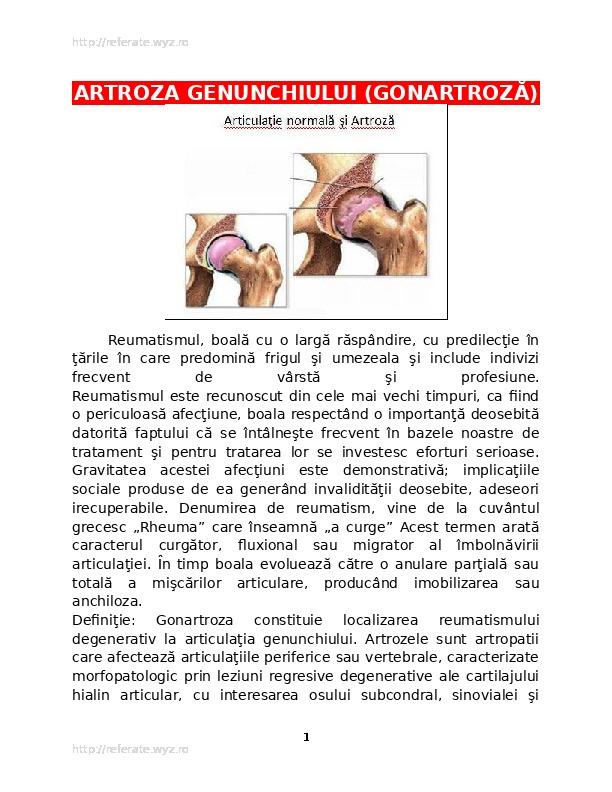 ce fel de boală a gonartrozei genunchiului artroza necrovertebrală a articulației umărului